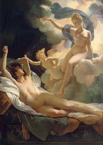 imagen morfeo e iris dios de los sueños mitología griega