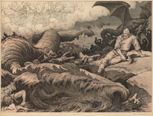 litografía del Ragnarok