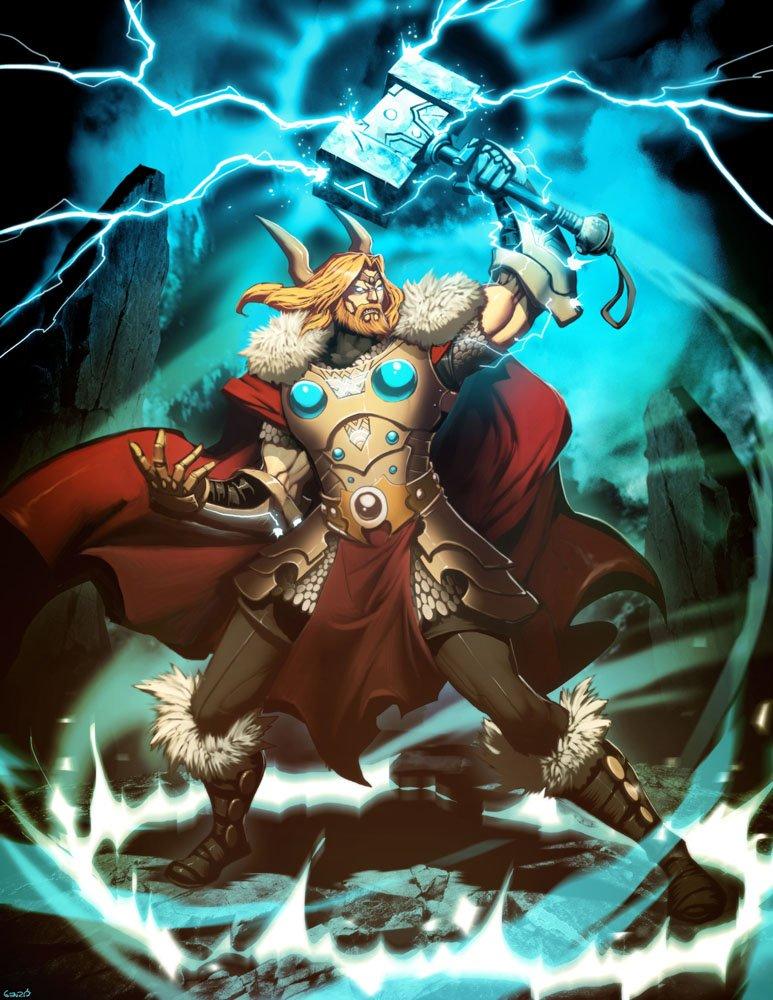 Estatua dios Thor