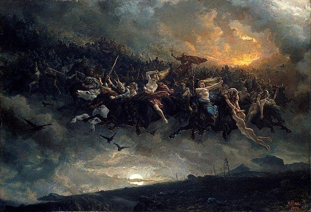 La caza salvaje de Odín, por Peter Nicolai Arbo