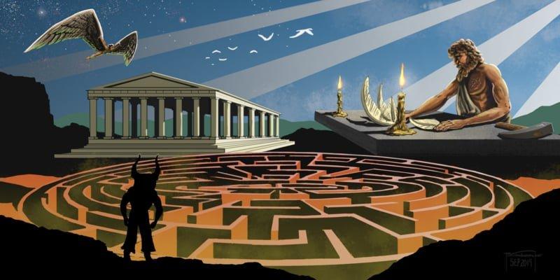 Laberinto del Minotauro diseñado por Dédalo