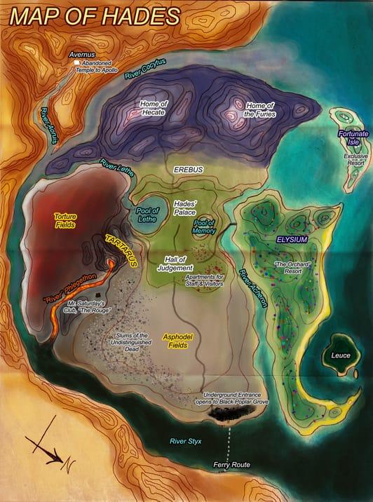 Mapa Hades Inframundo