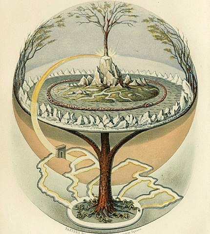 Árbol Yggdrasil mitología nórdica