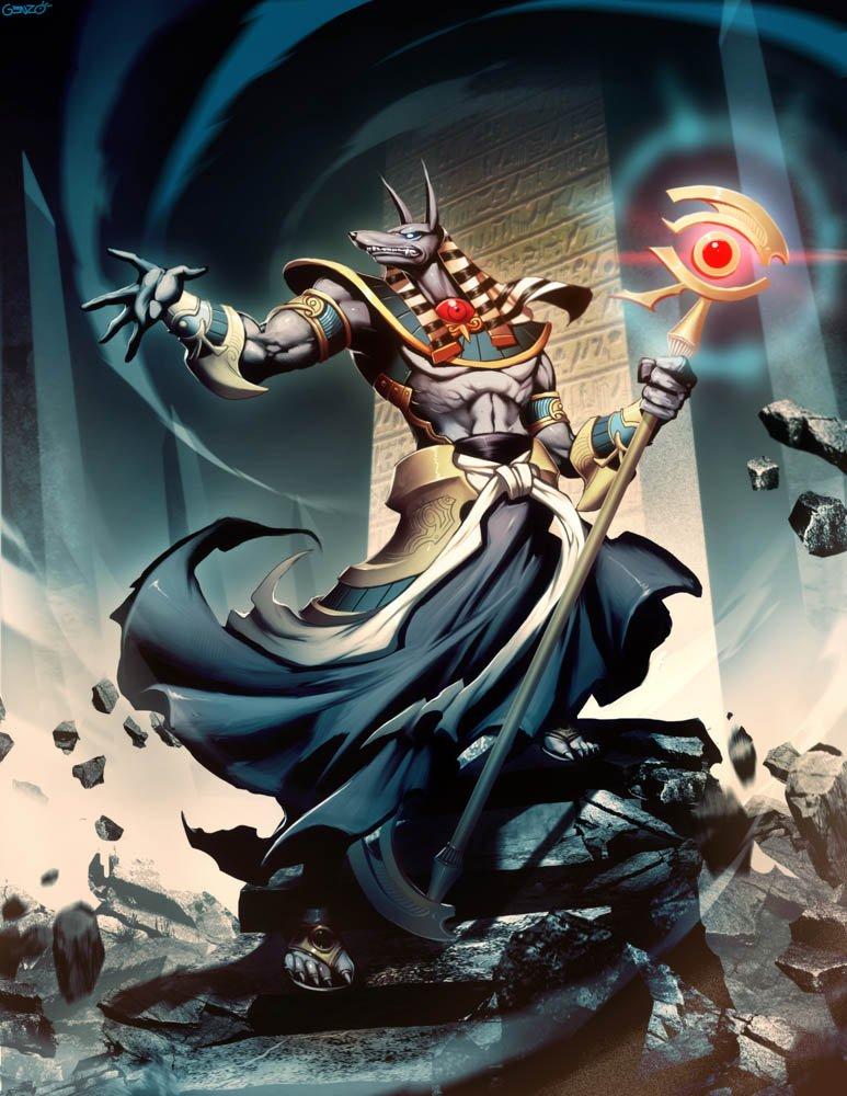 Anubis dios de la muerte mitología egipcia