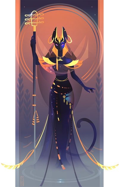 Bastet diosa de los gatos mitología egipcia