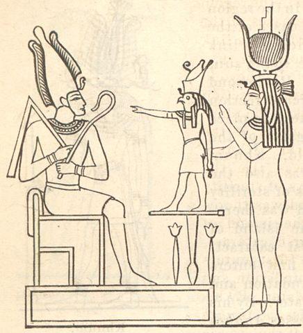 Osiris, Isis y Horus mitología egipcia