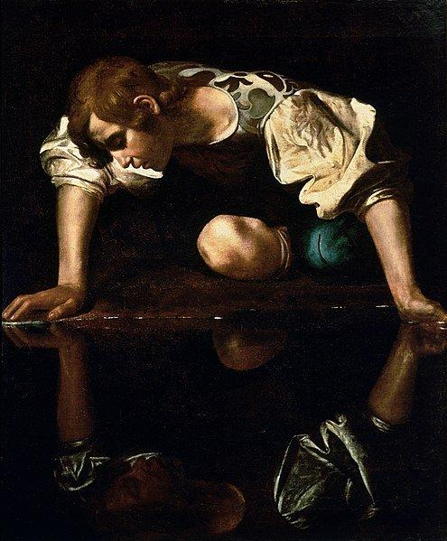 cuadro Caravaggio mito de Narciso mitología griega