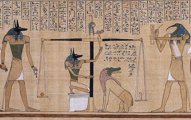 pesado del corazón maat diosa egipcia mitología egipcia