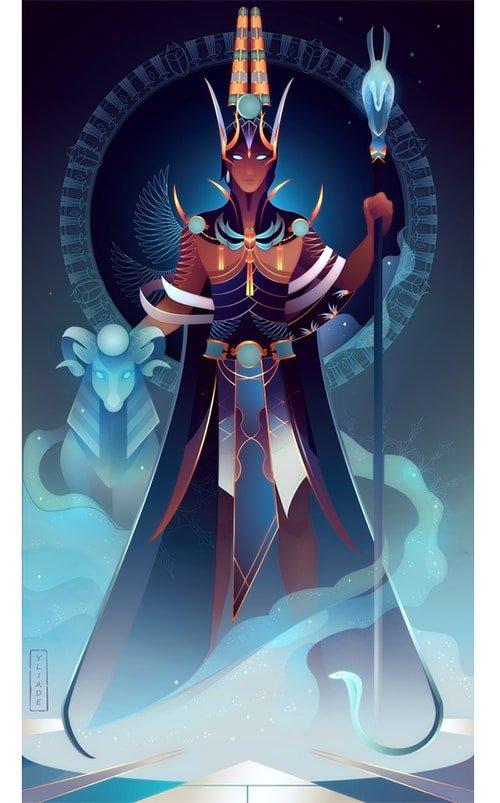 Amón dios de la mitología egipcia