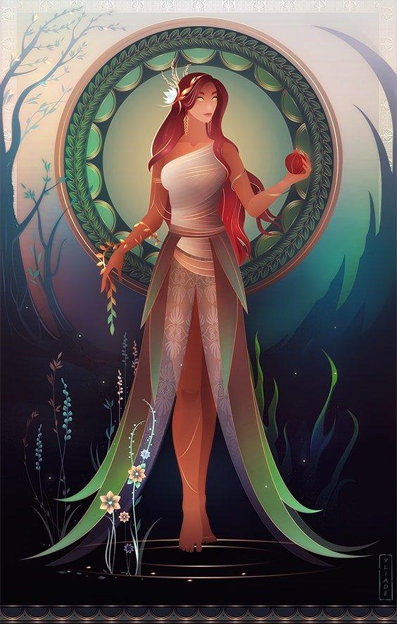 Perséfone hija de Deméter mitología griega
