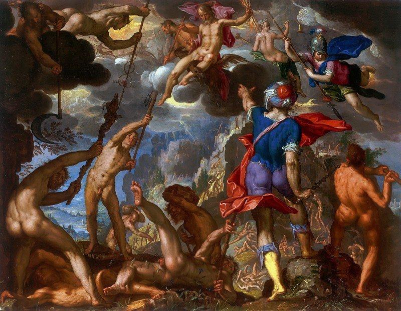 Titanomaquia batalla entre titanes y dioses mitología griega