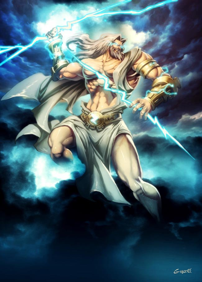 Zeus dios de la mitología griega