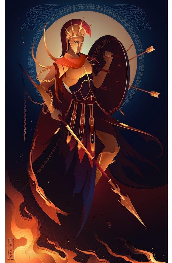 Ares dios griego de la guerra mitología griega