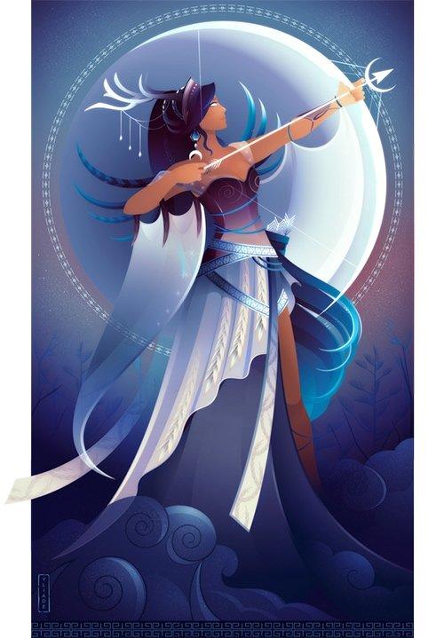 Artemisa diosa griega de la caza mitología griega