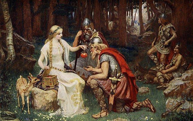 Cuadro mito Idun y las manzanas de oro mitología nórdica