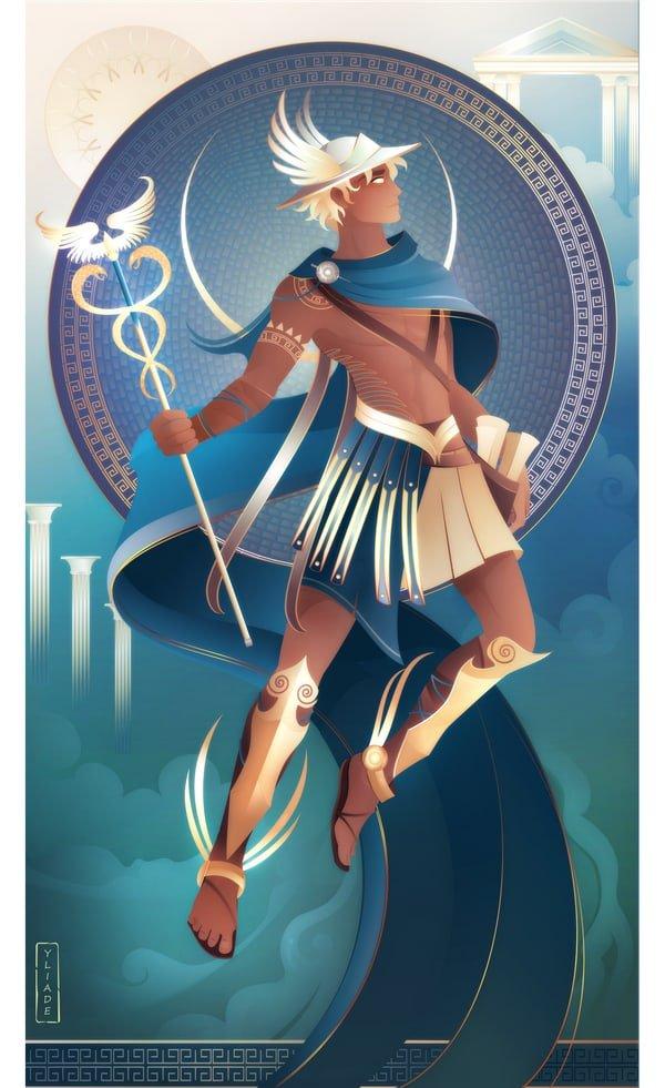 hermes dios mensajero mitología griega