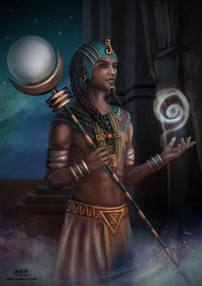 Jonsu dios egipcio mitología egipcia por Javhier Cruz