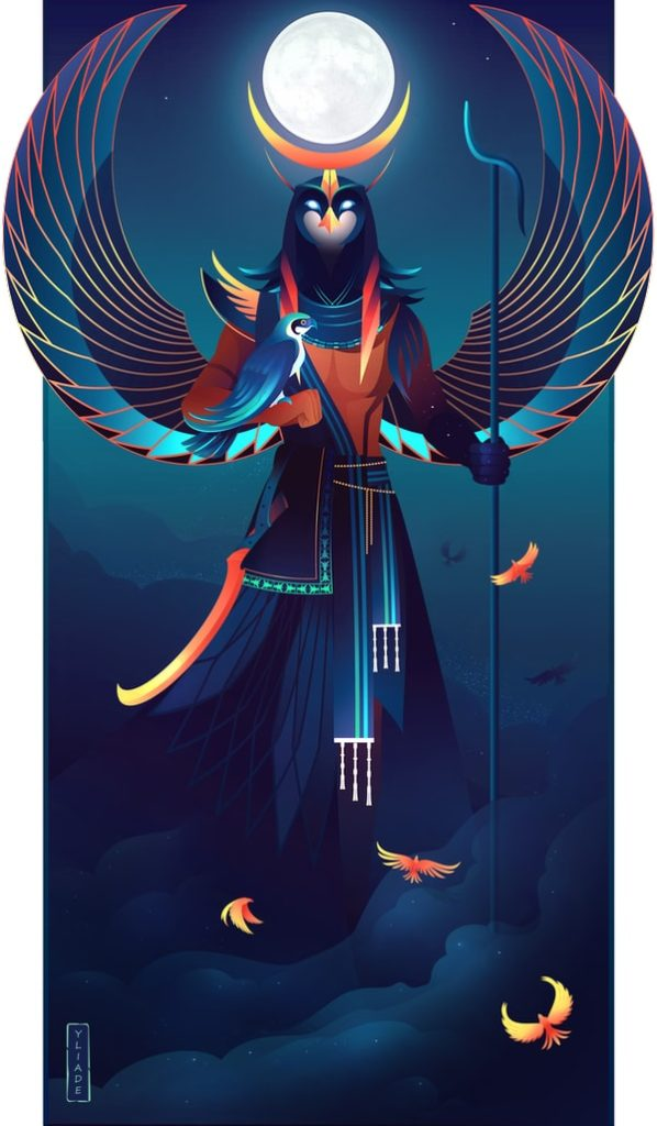 Khonsu dios lunar mitología egipcia