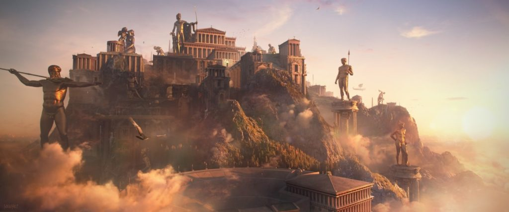 monte Olimpo en la mitología griega