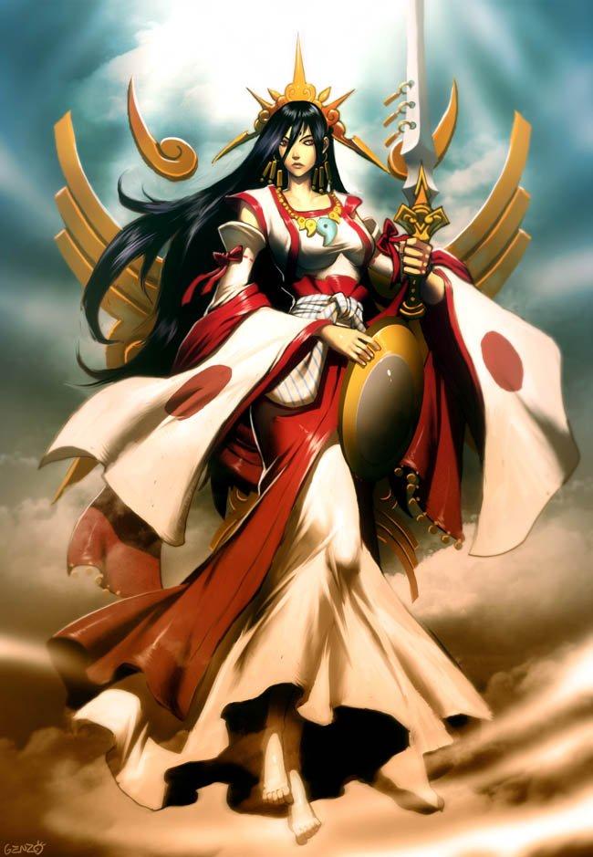 Amaterasu diosa japonesa del sol mitología japonesa