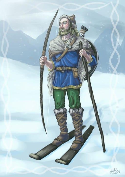 Ull dios del invierno mitología nórdica