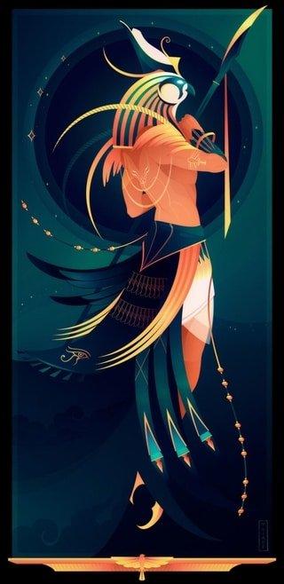 Horus dios halcón mitología egipcia