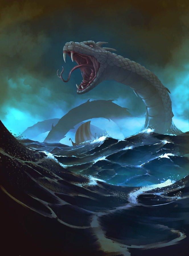 Jörmundgander mitología nórdica